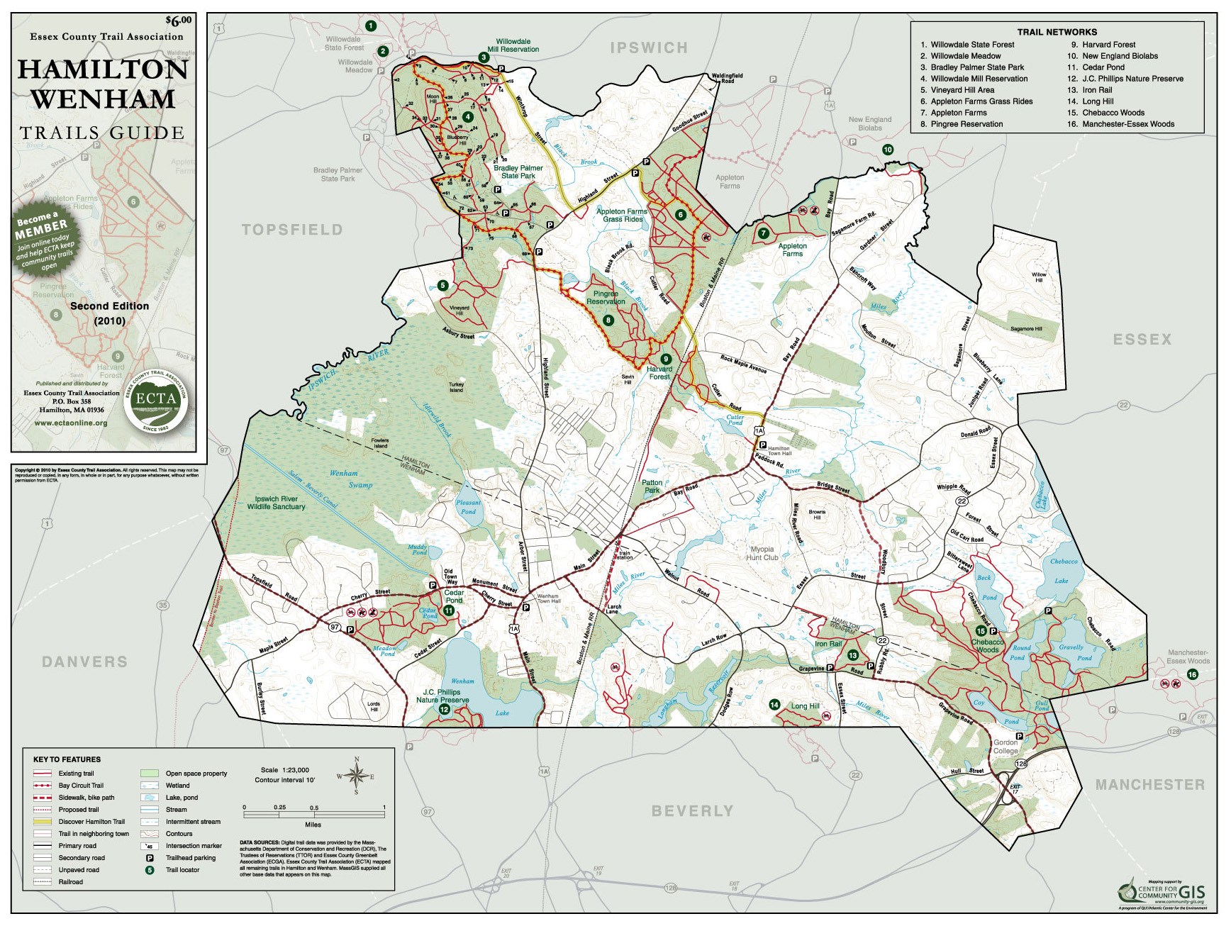 Buy an ECTA Trail Map Essex County Trail Association