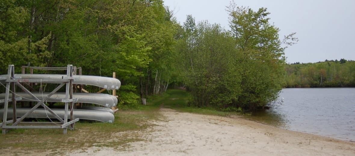 Gordon College Canoe Rack Photo